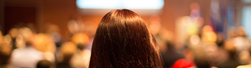 back of woman's head close up