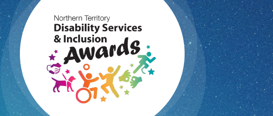 Banner with the words Northern Territory Disability Services and Inclusion Awards