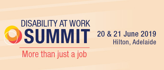 Disability at work Summit 2019 event banner - More than Just a job