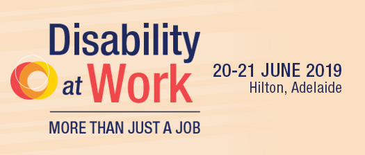 Disability at work 2019 event banner - More than Just a job