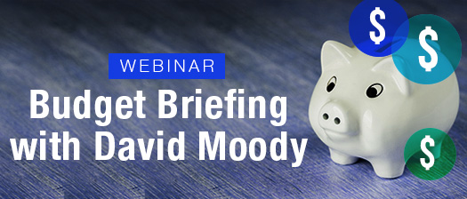 Budget briefing with David Moody
