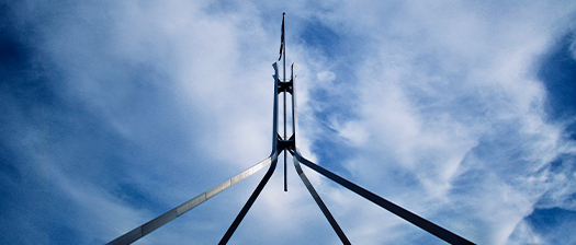 Parliament house flagpole