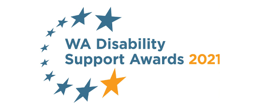 Banner reads: WA Disability Support Awards 2021