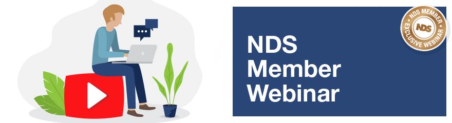 Banner reads: NDS Member webinar
