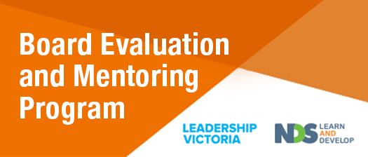 Board Evaluation and Mentoring Program banner