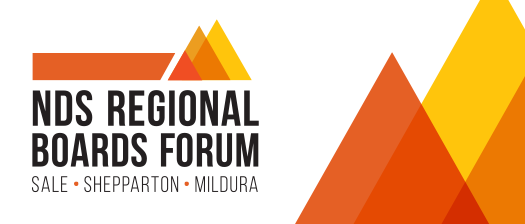 NDS Regional Boards Forum banner with coloured triangles