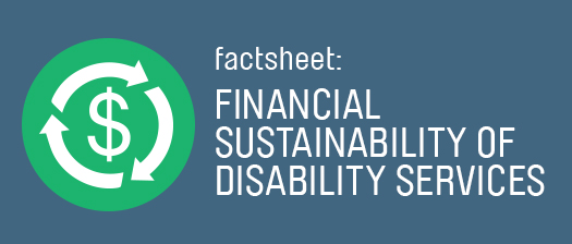 Factsheet: Financial Sustainability of Disability Services
