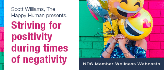 Striving for positivity during time of negativity banner
