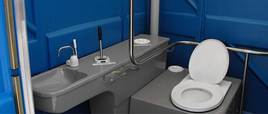 A photograph of an accessible bathroom.