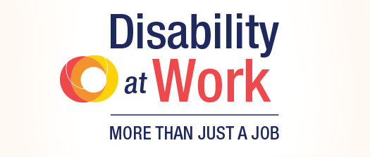 disability at work more than just a job with circle logo