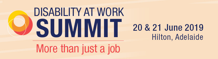 Disability at Work Summit event banner