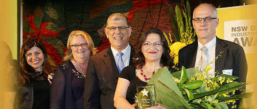 A group of people at the 2016 awards, including the Disability Minister.