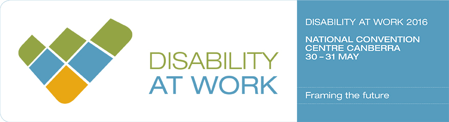 Disability At Work 2016 conference banner