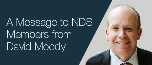 A message to NDS Members from David Moody banner
