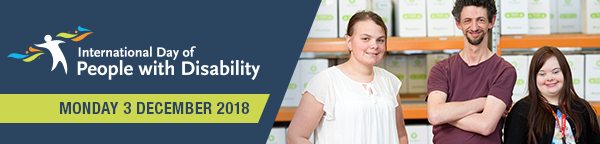 International day of people with disability monday 3 december blue banner