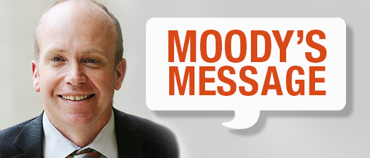 A picture of Victoria State Manager David Moody with the text 'Moody's Message' in a speech bubble.