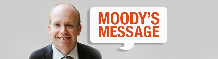 Headshot of NDS Victorian State Manager David Moody smiling with text reading 'Moody's Message'