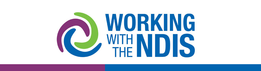 NDP virtual conference event banner reading 'Working with the NDIS'