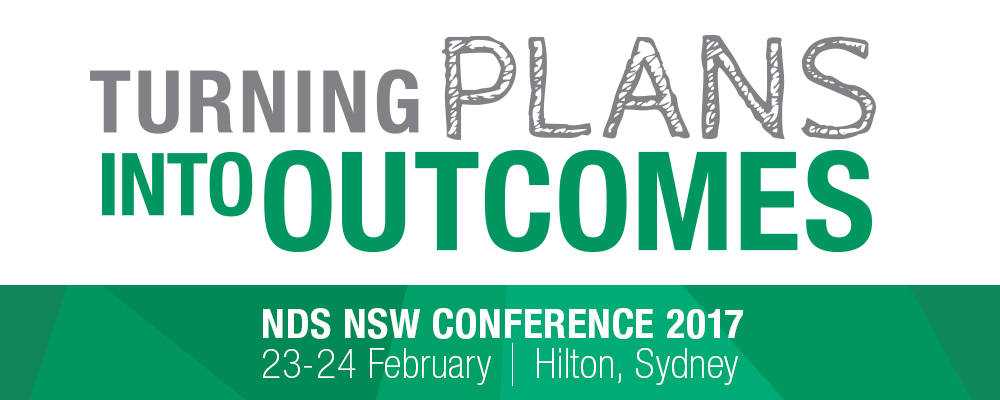 NSW Conference 2017 'Turning Plans Into Outcomes' banner