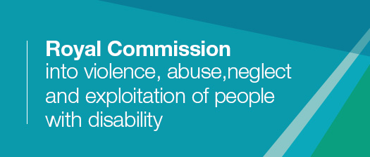 Banner: Royal Commission into violence, abuse, neglect and exploitation of people with disability