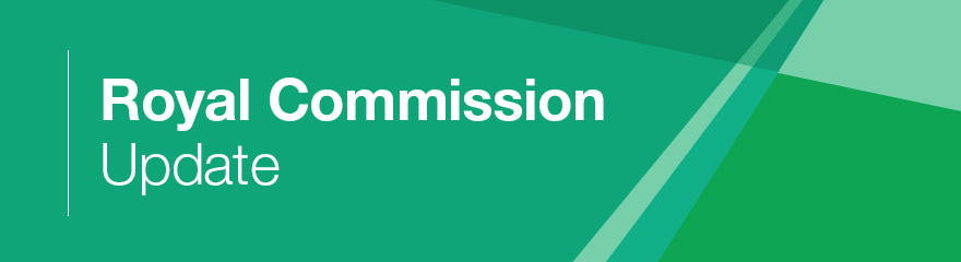 Royal Commission update banner