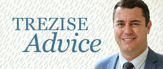 A headshot of NT State Manager John Trezise with text reading 'Trezise Advice'