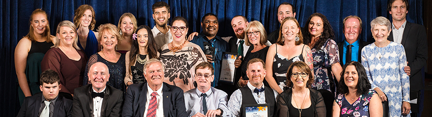 Photo of the winners of the 2019 Disability Support Awards