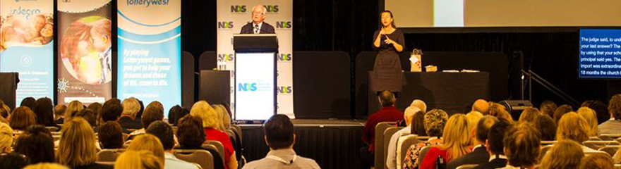 Photo of back of audience at NDS WA Conference 2019