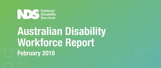Australian Disability Workforce Report February 2018 banner