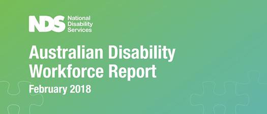 Australian Disability Workforce Report February 2018 banner