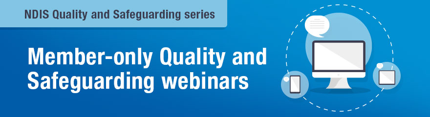 Quality and Safeguarding webinars banner