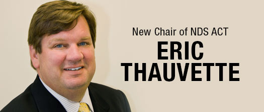New chair of NDS ACT Eric Thauvette