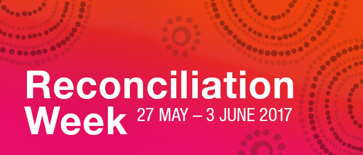 Reconciliation Week banner featuring dot painting
