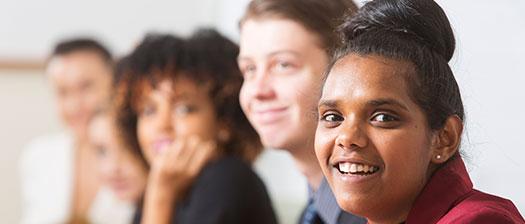 People facing camera smiling