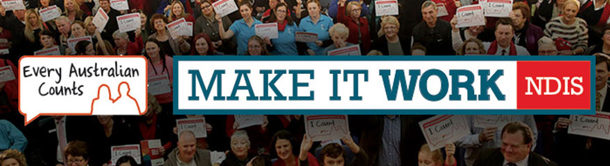 Make It Work event banner with crowd of people