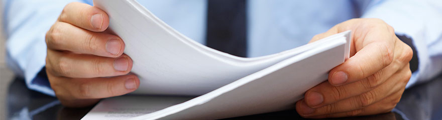 Papers on a desk