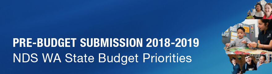 Pre-Budget Submission banner with clients and support workers