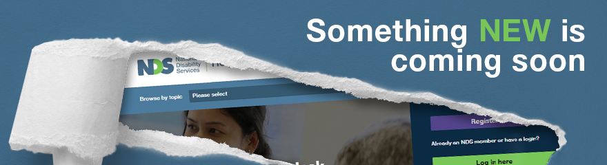Window into NDS website with text reading 'Something new is coming soon'
