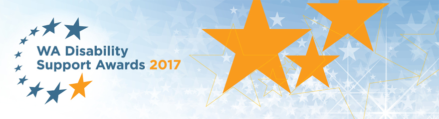 Disability Support Awards 2017 logo with stars