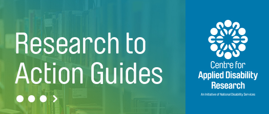 CADR Research to Action guides banner with person in a library