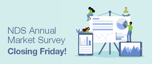 Image reads: NDS Annual Market Survey closing Friday