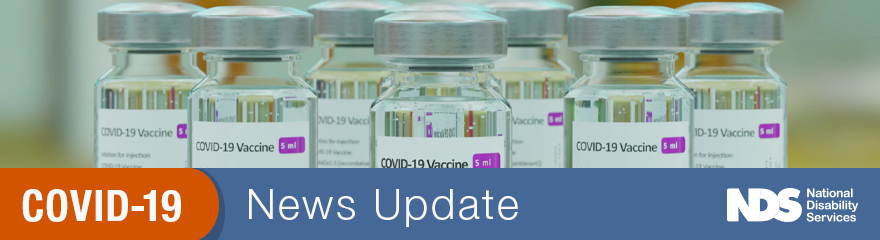 bottles of medicine on a shelf with text COVID-19 news update