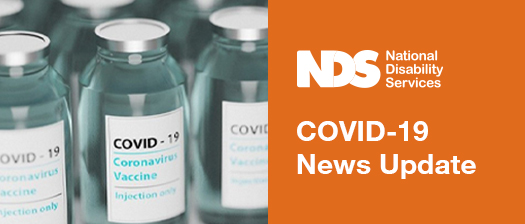 row of glass medicine vials and text reads Covid-19 news update