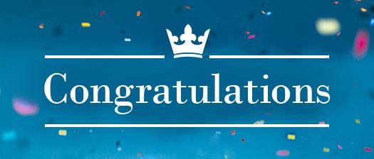 Reads: Congratulations