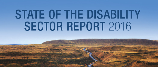 2016 State of the Disability Sector Report released