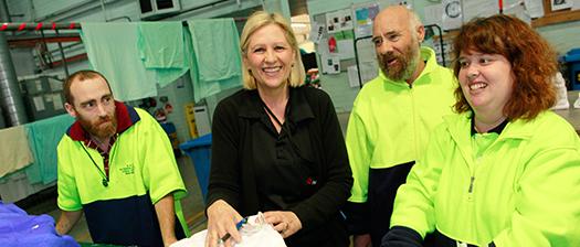 People smiling at work