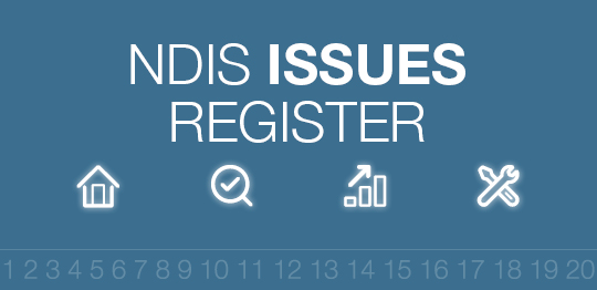 NDIS Issues register