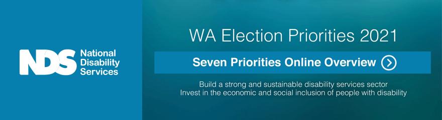 Reads WA Election Priorities 2021. Seven priorities online overview