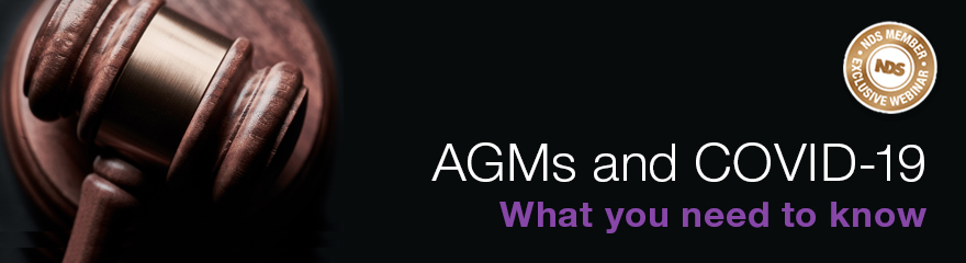 Judges gavel beside the words: AGMs and COVID, what you need to know