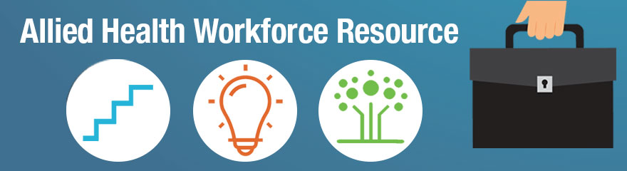 Allied Health Workforce Resource with Icons and Briefcase